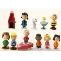 Snoopy Peanuts Charlie Lucy Frankl 12 PCS Cartoon Action Figure Cute Doll Toys