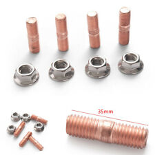 4 Sets M10 x 1.50mm Studs Nuts Kit For T3 T4 T5 T6 Car Turbochargers Manifolds