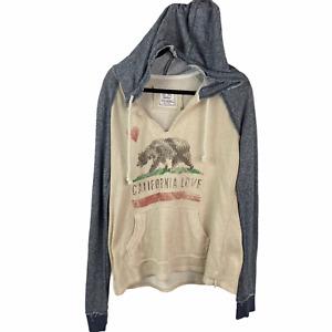 Cali Love Heritage light  pullover hoodie sz XL California Logo Long Sleeve