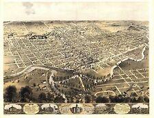 1868 Fort Wayne ft Indiana map Genealogy atlas poster Allen county old In 5