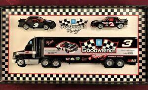 DALE EARNHARDT #3 GM Goodwrench Racing 1/64 Diecast Transporter & 2 Car SET MINT