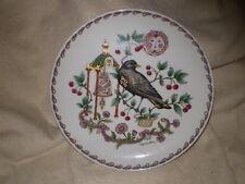 Hutschenreuther Amsel Blackbird Plate. Ole Winthur, Beautiful Plate