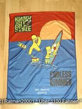 Fahnen Posterflagge - Homer Simpson und Bart 48 x 66 cm
