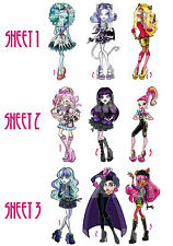 MONSTER HIGH IRON ON T-SHIRT FABRIC TRANSFER OR STICKER WALL DECO LOT MHN