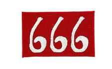 Patch ecusson brode thermocollant 666 motard biker satan rouge