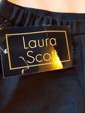 WOMEN'S SKIRT-LAURA SCOTT-LONG BLACK SKIRT WITH BACK VENT-SIZE 16-LINED-NWT