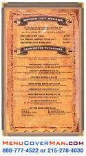 25 Menu Covers 8.5x14 1 panel, 2 view Restaurant Menu Covers, Brown Nylon Trim
