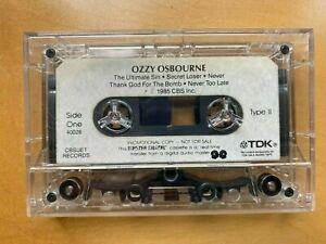 Ozzy Osbourne Ultimate Sin CBS 1985 Promo MASTER DIGITAL Cassette Tape TDK SA-X