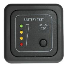 MTB/M PANNELLO TEST BATTERIA 12V A LED CBE MARRONE - CAMPER ROULOTTE