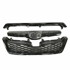 Front Upper Grille Assembly STI Style Black Grill For 2014-2018 Subaru Forester