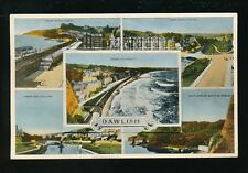 Devon DAWLISH Topo Pocket Novelty M/view PPC used c1960