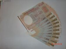 - INDIA PAPER MONEY - 10 X RS 2/- OLD  NOTES - R.N.MALHOTRA - RARE - B-31 # AA7