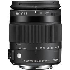 "Sigma 18-200mm f3.5-6.3 DC Macro OS HSM ""C"" Lente-Canon Fit"