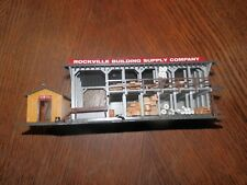 Vintage Ho Scale Rockville Building Supply Co. with Building Materials,