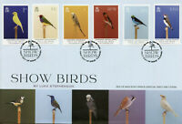 Isle of Man IOM Birds on Stamps 2021 FDC Show Birds Finches Tanagers 6v Set