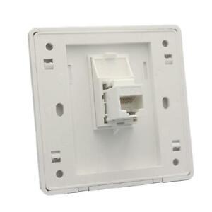 Wall Socket Plate One Port Network-Ethernet LAN CAT6 RJ45 Outlet Faceplate M5D4