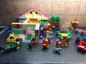 Lego Duplo Vintage Family House ,Garden ,Cars Bundle