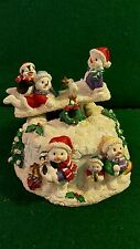 """San Francisco Music Box Snowman Teeter Totter - """"We Wish You A Merry Christmas"""""""