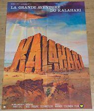Affiche de cinéma : LA GRANDE AVENTURE DU KALAHARI de JAMIE UYS