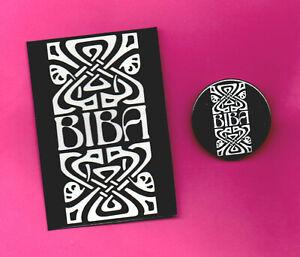 BIBA BADGE & FRIDGE MAGNET.  60's, Twiggy, Mod, Fashion.