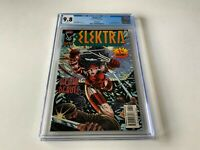 ELEKTRA 1 CGC 9.8 WHITE PAGES VARIANT COVER WOLVERINE BULLSEYE MARVEL COMIC 1996