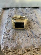 14k Mens Black Onyx Ring Size 10.5