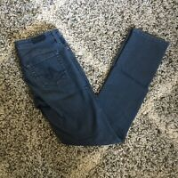 AG Adriano Goldschmied Women's Gray The Stevie Slim Straight Jeans Size 27R