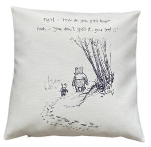 *SALE* Love - 40cm Ivory cushion cover Winnie The Pooh Nursery Style Baby Gift