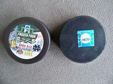 2018 Frozen Four 4 Logo Hockey Puck UMD Ohio State Michigan Notre Dame