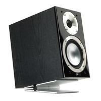 SoundXtra Adjustable Universal Speaker Stands Table Desktop Pair Large Silver x2