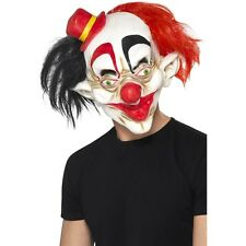 Scary Clown Mask Fat Lips Black Red Hair ICP Evil Adult Creepy Halloween Costume
