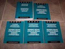 2001 Chrysler Sebring Sedan Shop Service Repair Manual Set LX LXi 2.4L 2.7L V6