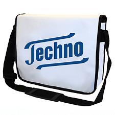 Techno | DJ | Music | Clubbing | Kult | Weiß | Umhängetasche | Messenger Bag
