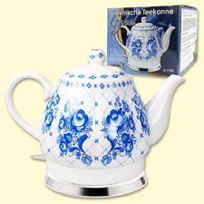 Elektrokocher Keramikwasserkocher Teekanne Kabellos Mohn 1,7L 1500 W