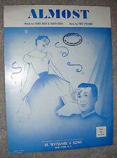 1954 ALMOST Vintage Sheet Music by Fred Spielman, Isabel & Ogden Nash