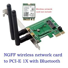 M.2 to PCI-E Converter Wireless WiFi Bluetooth Network Card Adapter Board