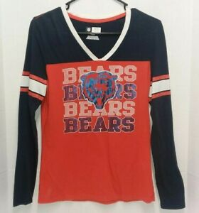 Chicago Bears NFL Team Apparel Long Sleeve Tshirt - Women's Size Med **EUC**