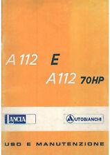 LIBRETTO USO E MANUTENZIONE AUTOBIANCHI A112E - A112 70HP IN FORMATO PDF