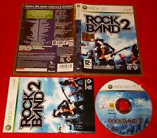 ROCKBAND 2 XBOX 360 Rock band Versione Italiana 1ª Edizione ○ COMPLETO - FG