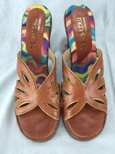 SKECHERS BY MICHELLE K BROWN  MULE SANDALS SHOES HEELS SLIP ONS SIZE 8 1/2 8.5