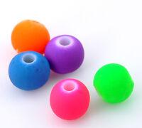Lot 20 Perles 6mm Fluo Neon Couleur Mixte Creation bijoux, bracelet, collier