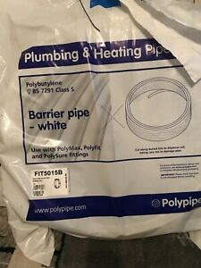 Polypipe 15mm x 50m FIT5015B Plastic Plumbing Pipe Barrier Coil White #6