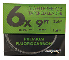 Airflo G5 Fluorocarbon Fly Fishing Tapered Leaders 9' All Sizes Avilable 11.2lb