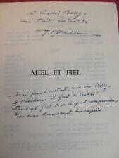 JEAN VICTOR PELLERIN /  MIEL ET FIEL envoi à André Berry ! EO