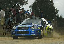 Petter Solberg Hand Signed Subaru Impreza 12x8 Photo Rally 3.
