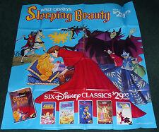 SLEEPING BEAUTY ORIGINAL 1980S VHS HOME VIDEO MOVIE POSTER DISNEY MALEFICENT