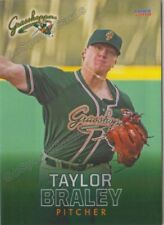 2018 Greensboro Grasshoppers Taylor Braley RC Rookie Miami Marlins