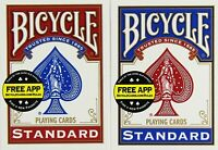 12 Decks Of Bicycle Poker Size Standard Index Playing Cards - 6 Red / 6 Blue