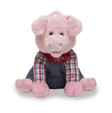 "NEW Cuddle Barn ""Farmer Oink"" 12"" Animated Old MacDonald Song Pig Plush"