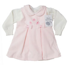 Completo scamiciata neonata in vellutino+misto lana made in Italy DOLCI COCCCOLE